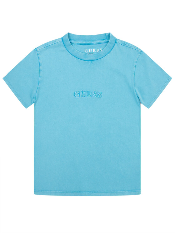Guess Guess T-Shirt H01J00 K82E0 Blau Regular Fit