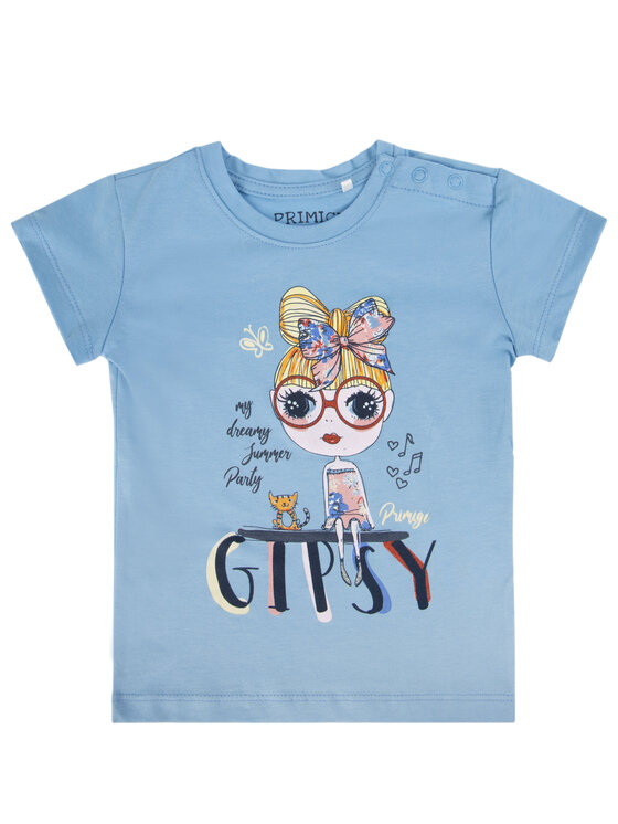 Primigi Primigi T-Shirt Little Gipsy Soul 43221531 Niebieski Regular Fit