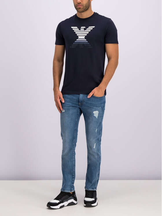 Emporio Armani Emporio Armani T-Shirt 6G1TC3 1J00Z 0933 Granatowy Regular Fit