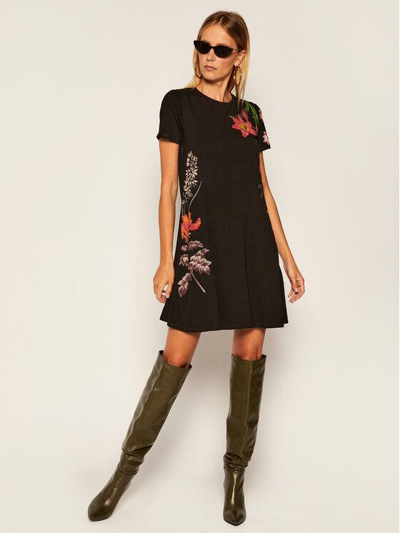 Desigual Desigual Každodenní šaty Caroline 20WWVKA2 Černá Loose Fit