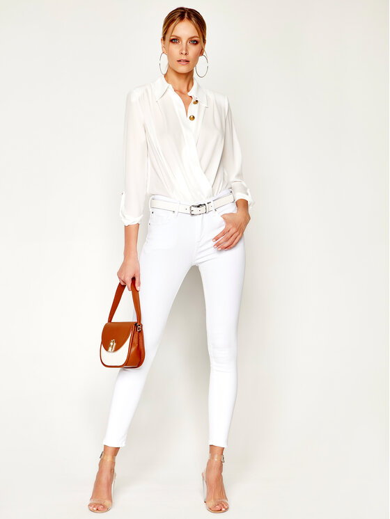 Pepe Jeans Pepe Jeans jeansy_skinny_fit Zoe PL211383 Balta Skinny Fit