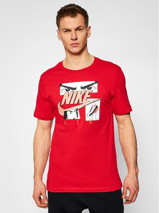 Nike Nike T-Shirt Sportswear DB6151 Czerwony Standard Fit