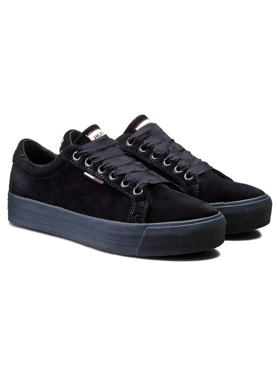 Tommy Hilfiger Tommy Hilfiger Sneakers aus Stoff DENIM Lyon 10B EN56821871 Dunkelblau