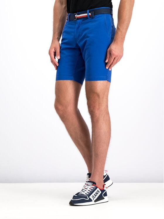 Tommy Hilfiger Tommy Hilfiger Pantalon scurți din material MW0MW10897 Bleumarin Regular Fit