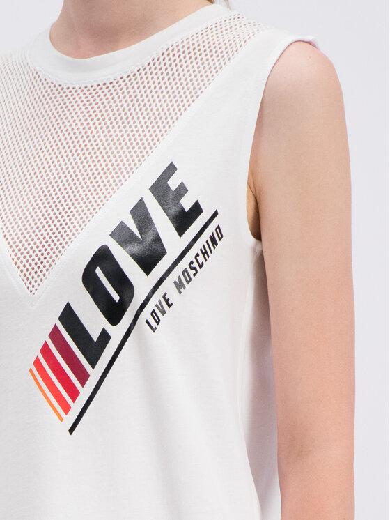 LOVE MOSCHINO LOVE MOSCHINO Každodenní šaty W5A9701M3517 Bílá Regular Fit