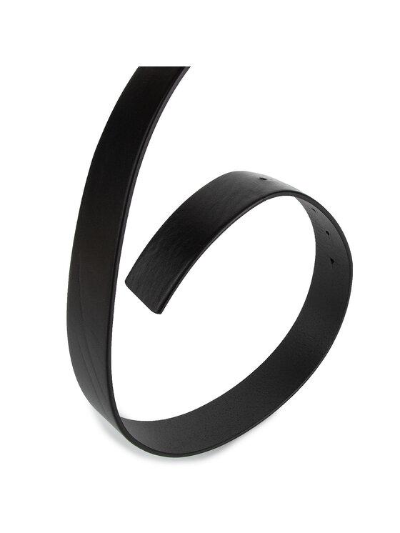 Trussardi Jeans Trussardi Jeans Vyriškas Diržas Business Affair Id Buckle Belt Leather 71L00094 Juoda