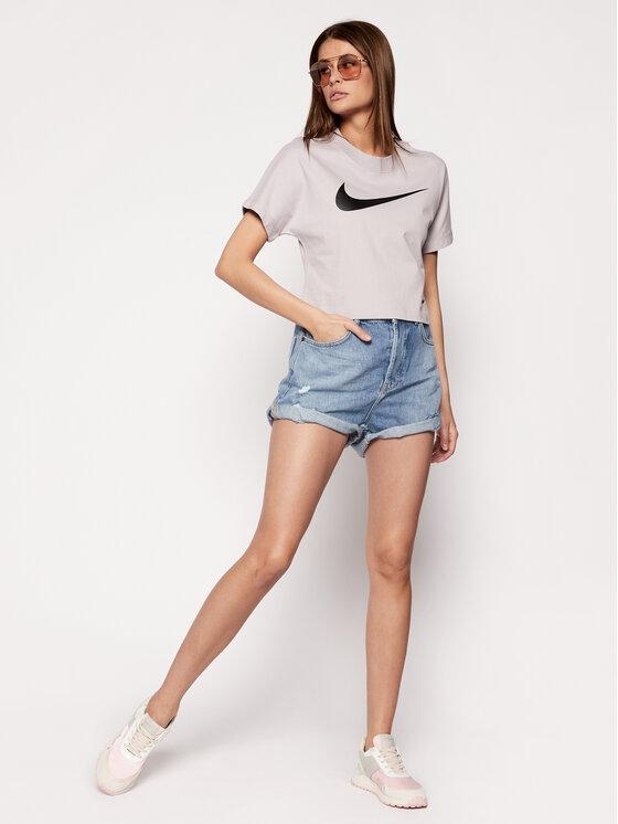 Nike Nike Marškinėliai Sportswear Swoosh CJ3764 Pilka Loose Fit