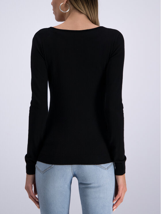 Guess Guess Sweter W93R58 Z2760 Czarny Regular Fit