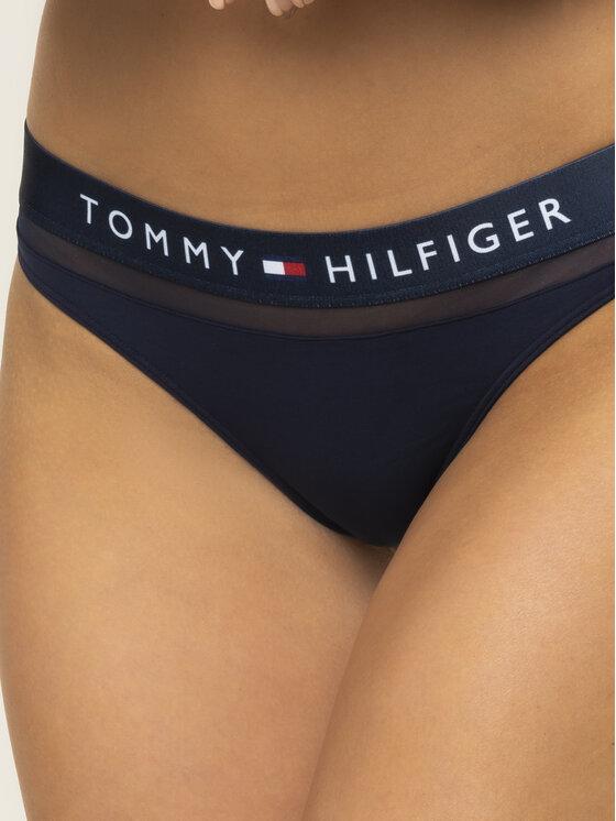 Tommy Hilfiger Tommy Hilfiger Kalhotky string Thong UW0UW00064 Tmavomodrá