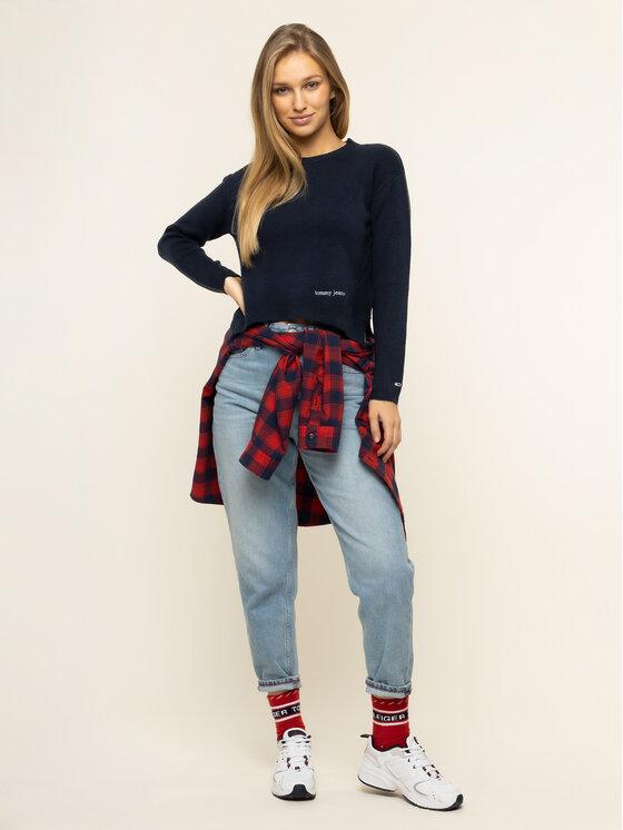 Tommy Jeans Tommy Jeans Sweter Tjm Side Stitch Detail DW0DW08285 Granatowy Regular Fit