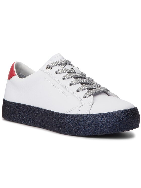 Tommy Hilfiger Tommy Hilfiger Sneakersy Glitter Dress Sneaker FW0FW03618 Bílá