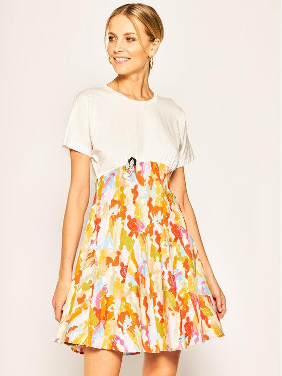 iBlues Kasdieninė suknelė Scorza 76210302 Balta Regular Fit