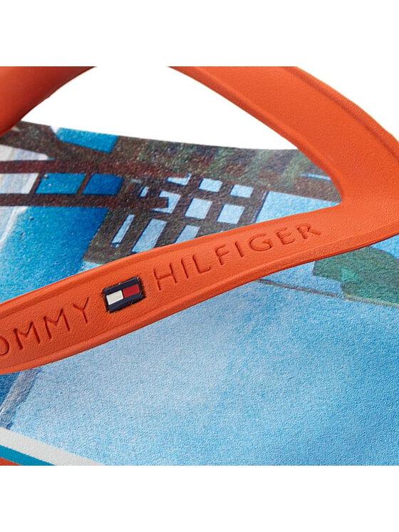 Tommy Hilfiger Tommy Hilfiger Šlepetės per pirštą Bay 17R FM56817432 Oranžinė