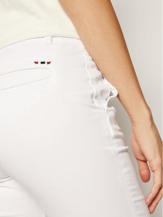 Napapijri Napapijri Šortky z materiálu Noridian 1 N0YHH9 Bílá Slim Fit