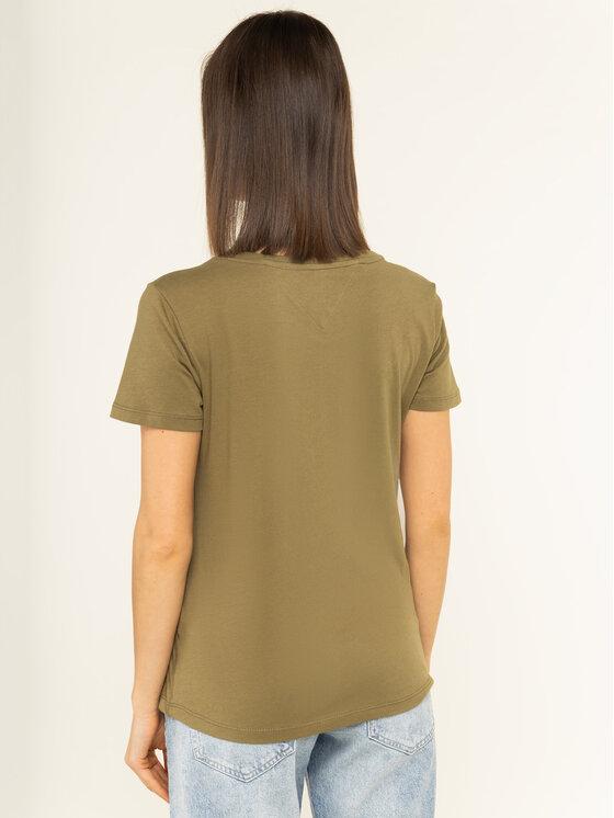 Tommy Jeans Tommy Jeans T-Shirt Soft DW0DW06901 Πράσινο Regular Fit