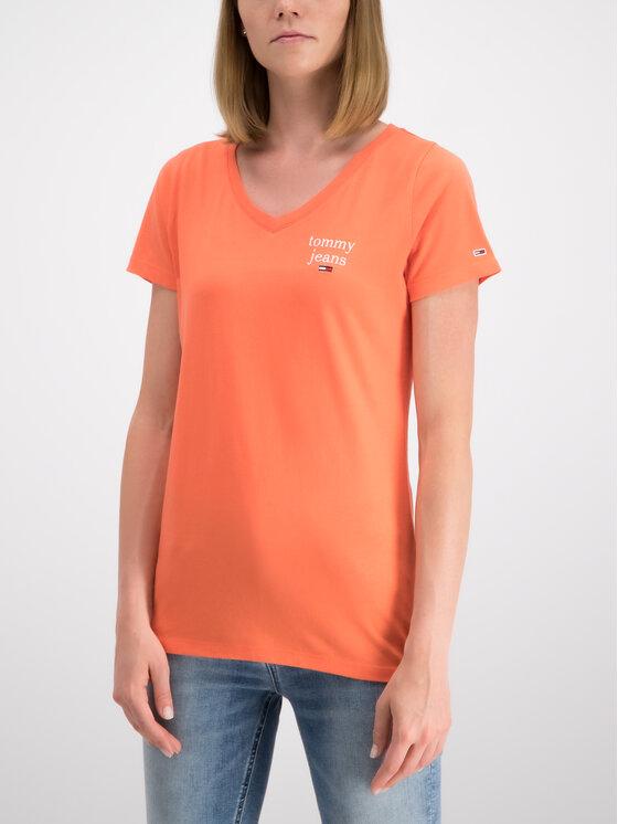 Tommy Jeans Tommy Jeans T-shirt Essential DW0DW06722 Orange Regular Fit