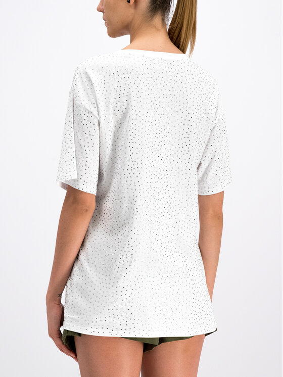 The Kooples The Kooples T-shirt Jersey And Strass FTSC18052K Blanc Oversize