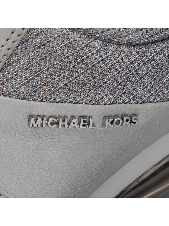 MICHAEL Michael Kors MICHAEL Michael Kors Sneakersy Allie Trainer 43T9ALFS8L Srebrny
