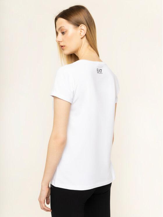 EA7 Emporio Armani EA7 Emporio Armani T-Shirt 3HTT30 TJ12Z 1100 Bílá Regular Fit