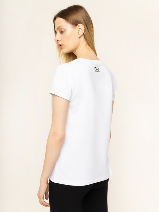 EA7 Emporio Armani EA7 Emporio Armani T-Shirt 3HTT30 TJ12Z 1100 Λευκό Regular Fit