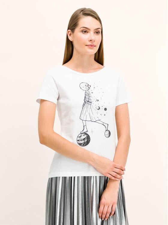 Pennyblack Pennyblack T-Shirt I9745019 Biały Regular Fit