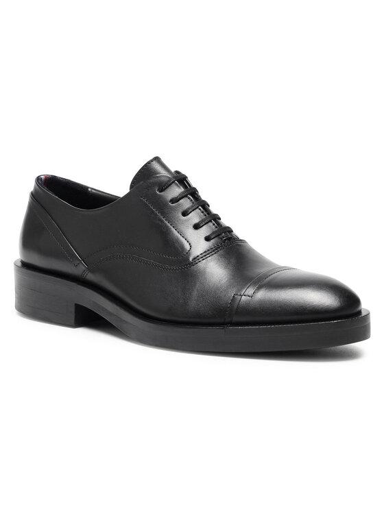 Tommy Hilfiger Półbuty Premium Tailor Derby Shoe FM0FM03188 Czarny