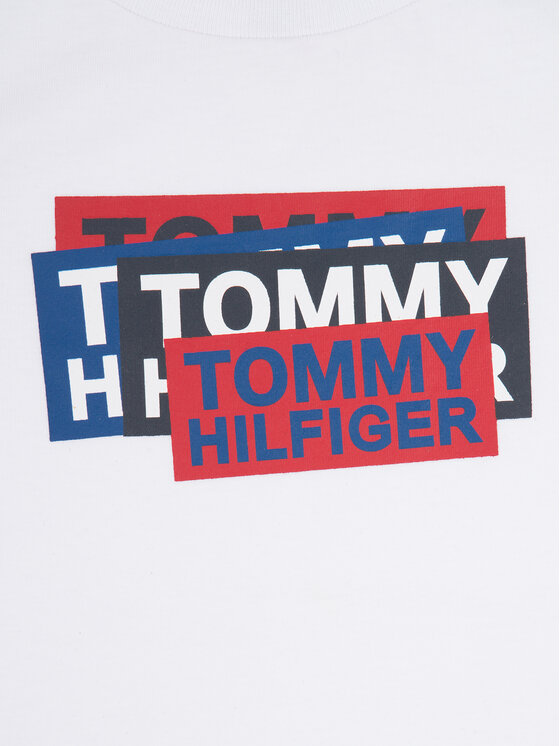 Tommy Hilfiger Tommy Hilfiger T-shirt Sticker KB0KB05124 M Bianco Regular Fit