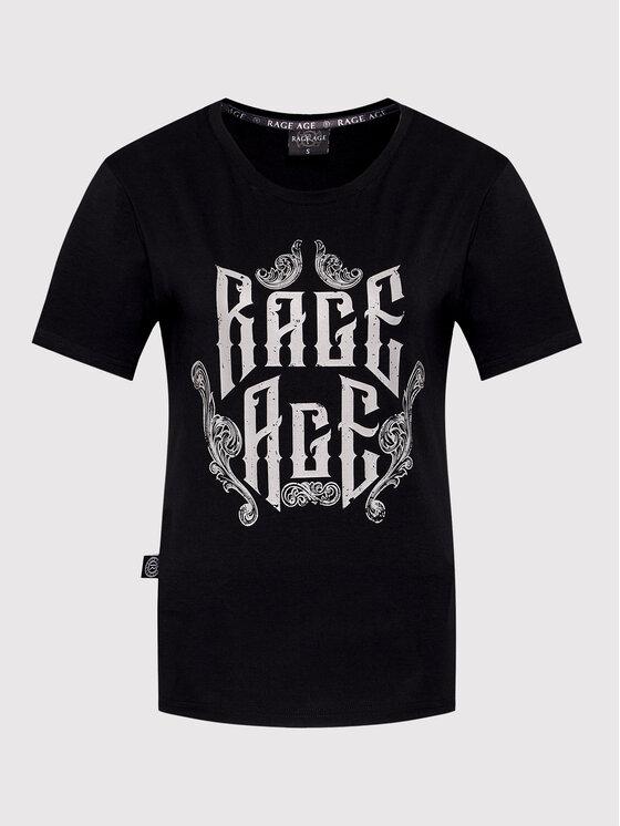 Rage Age Rage Age T-Shirt Eudoxa 1 Czarny Regular Fit