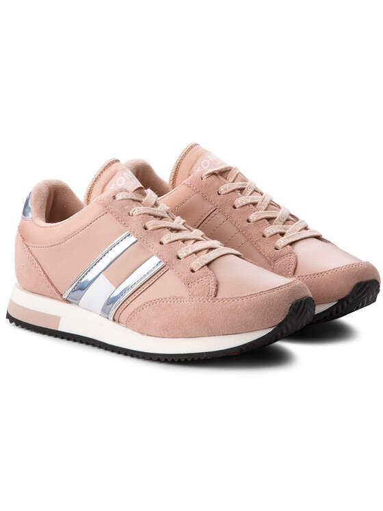 Tommy Jeans Tommy Jeans Сникърси Casual Retro Sneaker EN0EN00317 Розов