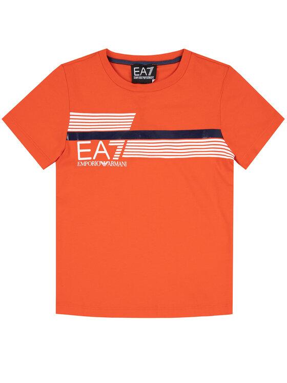 EA7 Emporio Armani EA7 Emporio Armani T-Shirt 3HBT54 BJ7CZ 1686 Oranžová Regular Fit