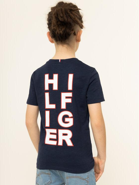 TOMMY HILFIGER TOMMY HILFIGER Marškinėliai Multi Application KB0KB05428 Tamsiai mėlyna Regular Fit