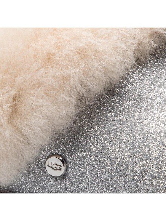 Ugg Ugg Kapcie Scuffette II Sparkle 1100177 Srebrny