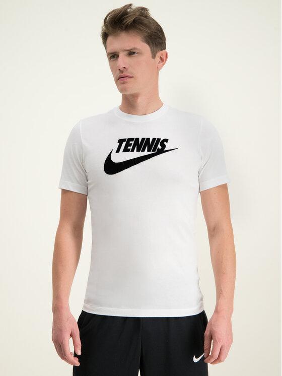 Nike Nike T-Shirt Court CJ0429 Biały Standard Fit