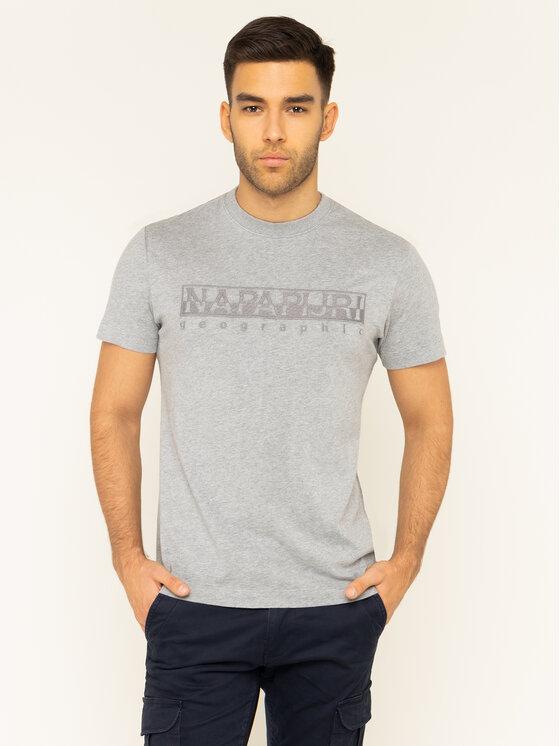 Napapijri Napapijri T-Shirt Serber N0YIWZ Γκρι Regular Fit