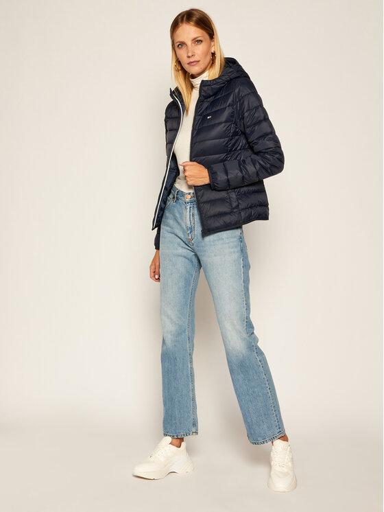 Tommy Jeans Tommy Jeans Vatovaná bunda Hooded Quilted Zip DW0DW08672 Tmavomodrá Slim Fit