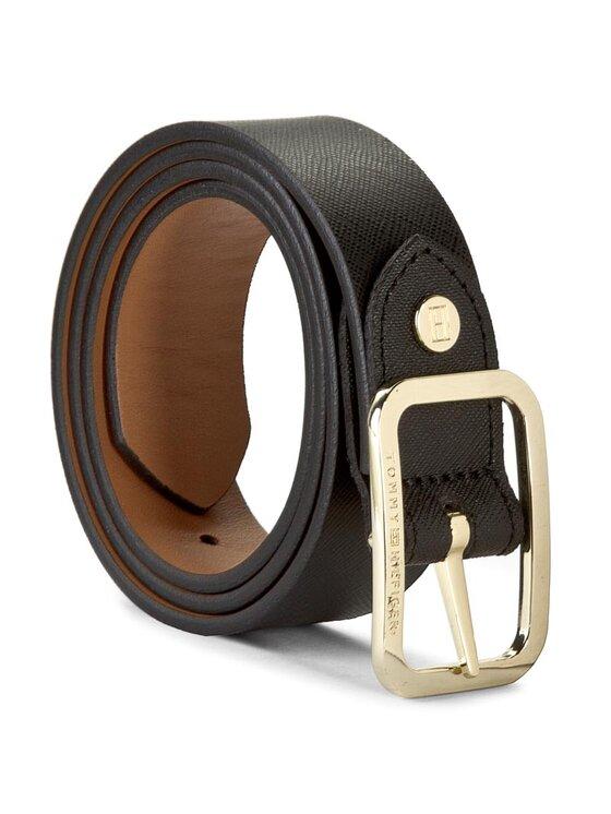 Tommy Hilfiger Tommy Hilfiger Dámsky opasok Modern Leather Belt 3.0 Rev AW0AW02987 75 Čierna