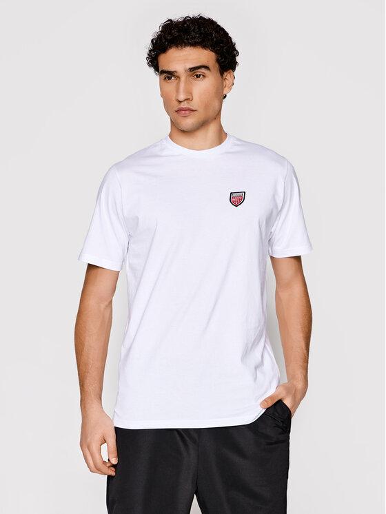 PROSTO. Marškinėliai Hugeback 1102 Balta Regular Fit