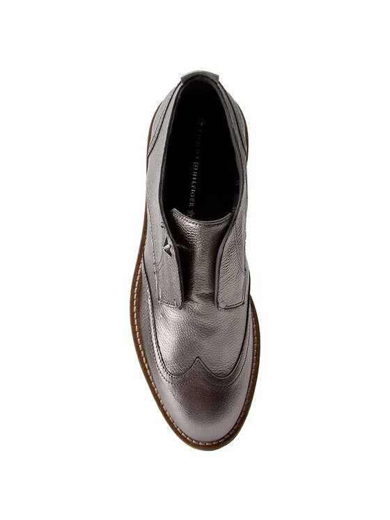 Tommy Hilfiger Tommy Hilfiger Oksfordo batai Beritt 12Z FW0FW01413 Sidabrinė