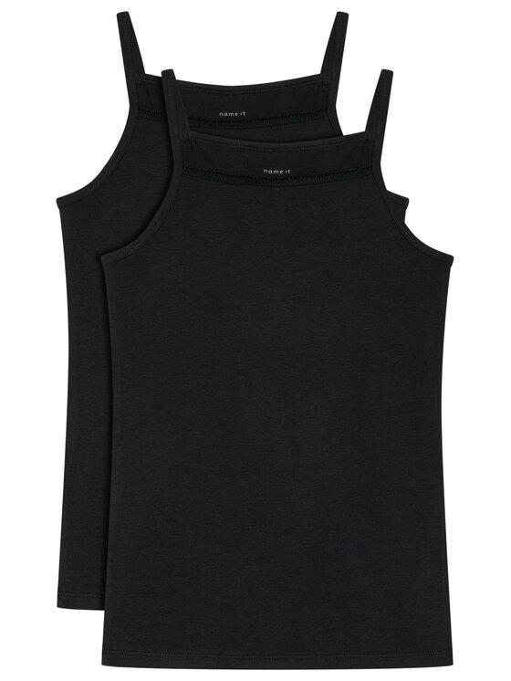 NAME IT 2 marškinėlių komplektas 13163589 Juoda Slim Fit