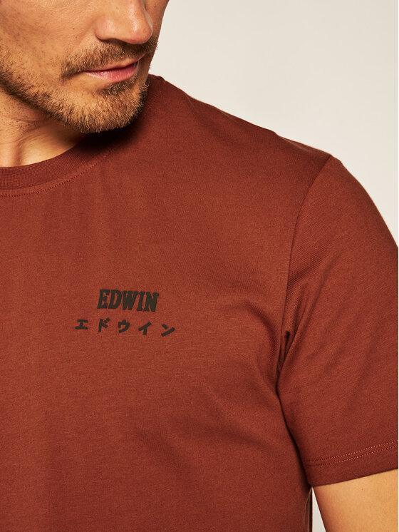 Edwin Edwin T-Shirt I026690 TH16J94 AUB67 Hnědá Regular Fit
