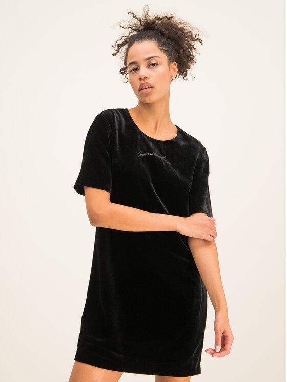 Armani Exchange Sukienka codzienna 6GYA15 YNMRZ 1200 Czarny Regular Fit
