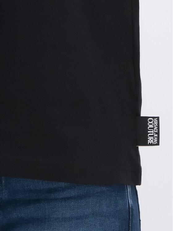 Versace Jeans Couture Versace Jeans Couture Тишърт B3GUA7DH Черен Regular Fit