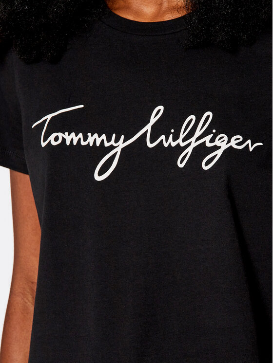 Tommy Hilfiger Tommy Hilfiger Тишърт Heritage Crew Neck Graphic Tee WW0WW24967 Черен Regular Fit
