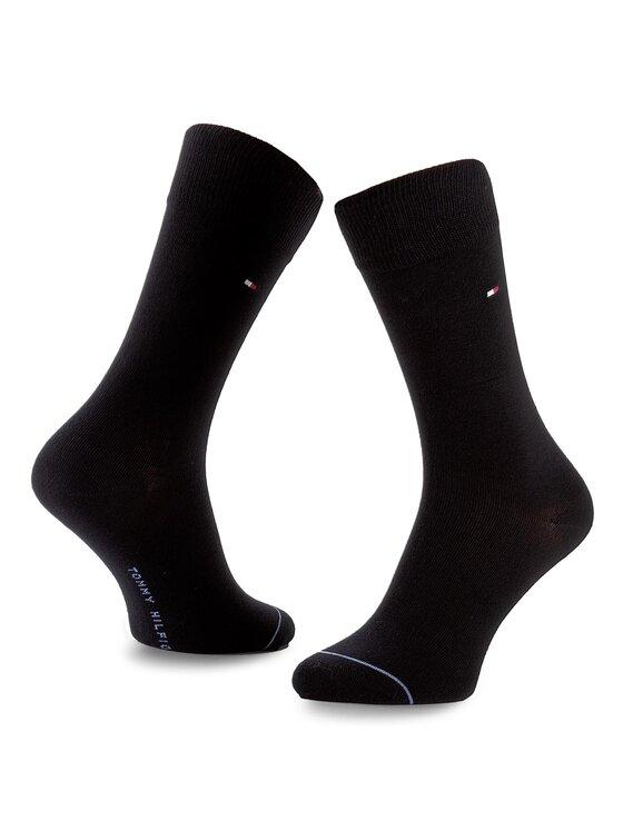 Tommy Hilfiger Tommy Hilfiger Sada 3 párů pánských vysokých ponožek 432010001 Tmavomodrá