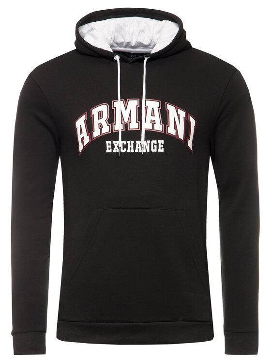 Armani Exchange Armani Exchange Μπλούζα 3HZMFB ZJ5CZ 1200 Μαύρο Regular Fit