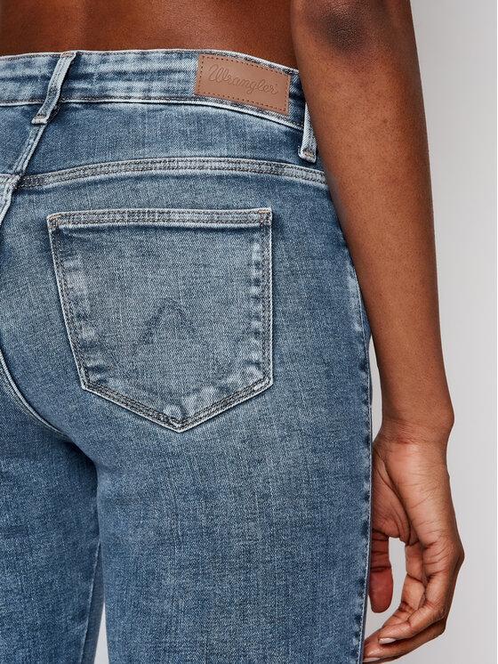 Wrangler Wrangler Jeansy Skinny Fit Body Bespoke W28KVH78X Niebieski Skinny Fit