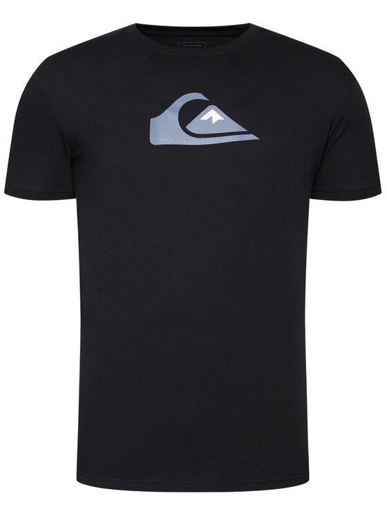 Quiksilver Quiksilver T-Shirt Comp Logo EQYZT06056 Černá Regular Fit