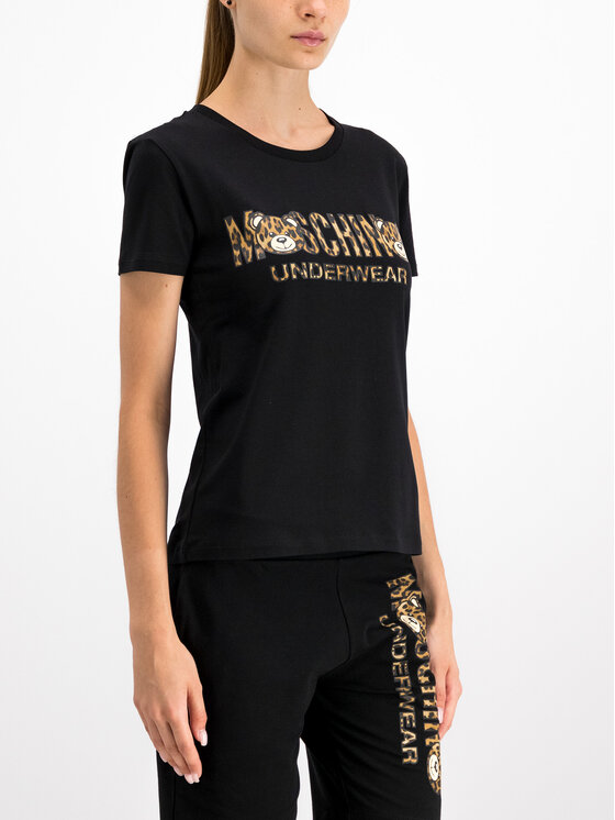 MOSCHINO Underwear & Swim MOSCHINO Underwear & Swim T-Shirt A1913 9003 Czarny Regular Fit