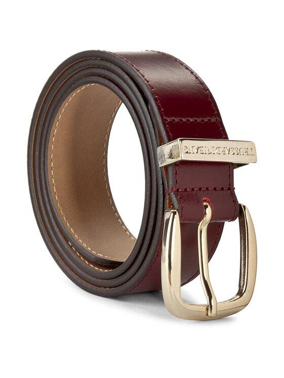 Trussardi Trussardi Jeans Curea de Damă Passante Logo Inciso Cint 75C531 80 Vișiniu