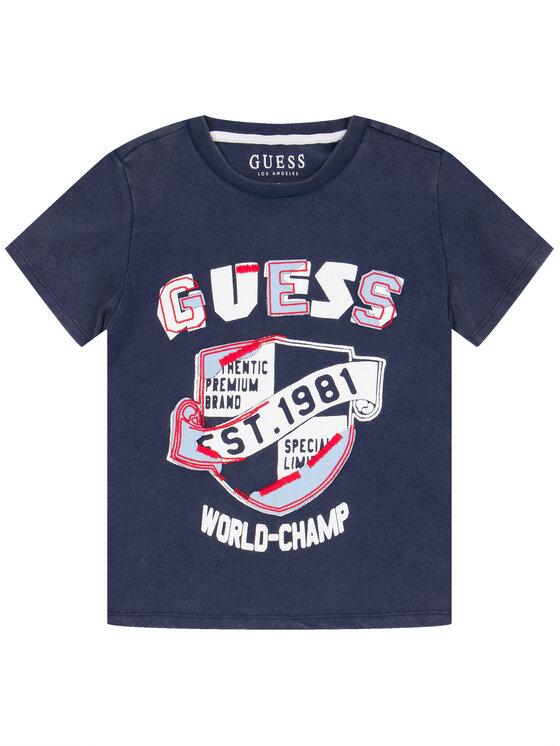 Guess Guess Marškinėliai L01I13 K82C0 Tamsiai mėlyna Regular Fit